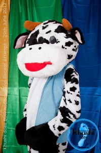 With 5 months until our world record attempt, here is the next photo from our promotional photoshoot... featuring our very own mascot Khushi the Cow! (Photography by Samantha Jones.)